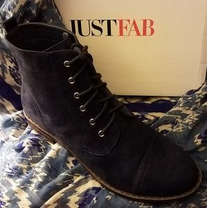 Faux suede Navy Ankle Boot